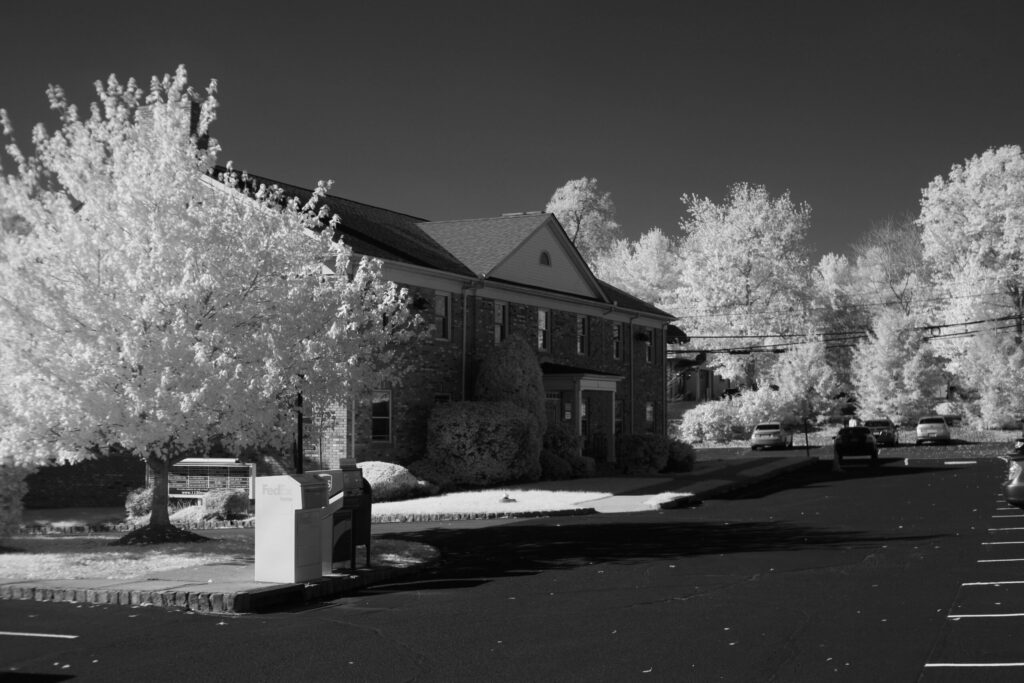 infrared conversion photo by Canon 5D 720nm Filter B&W