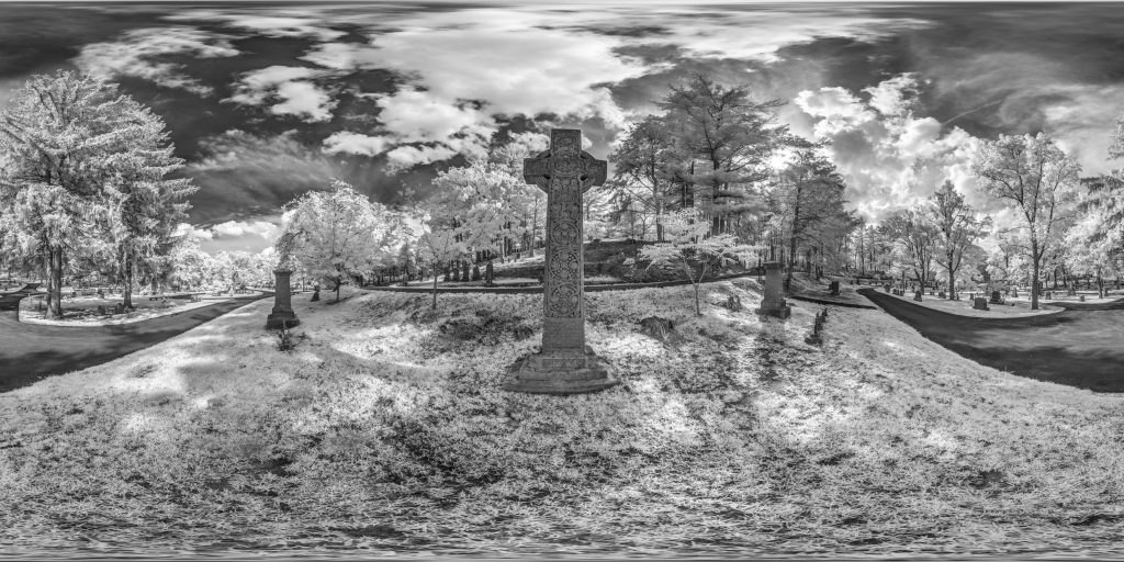 infrared conversion photo by Celtic Cross Panorama