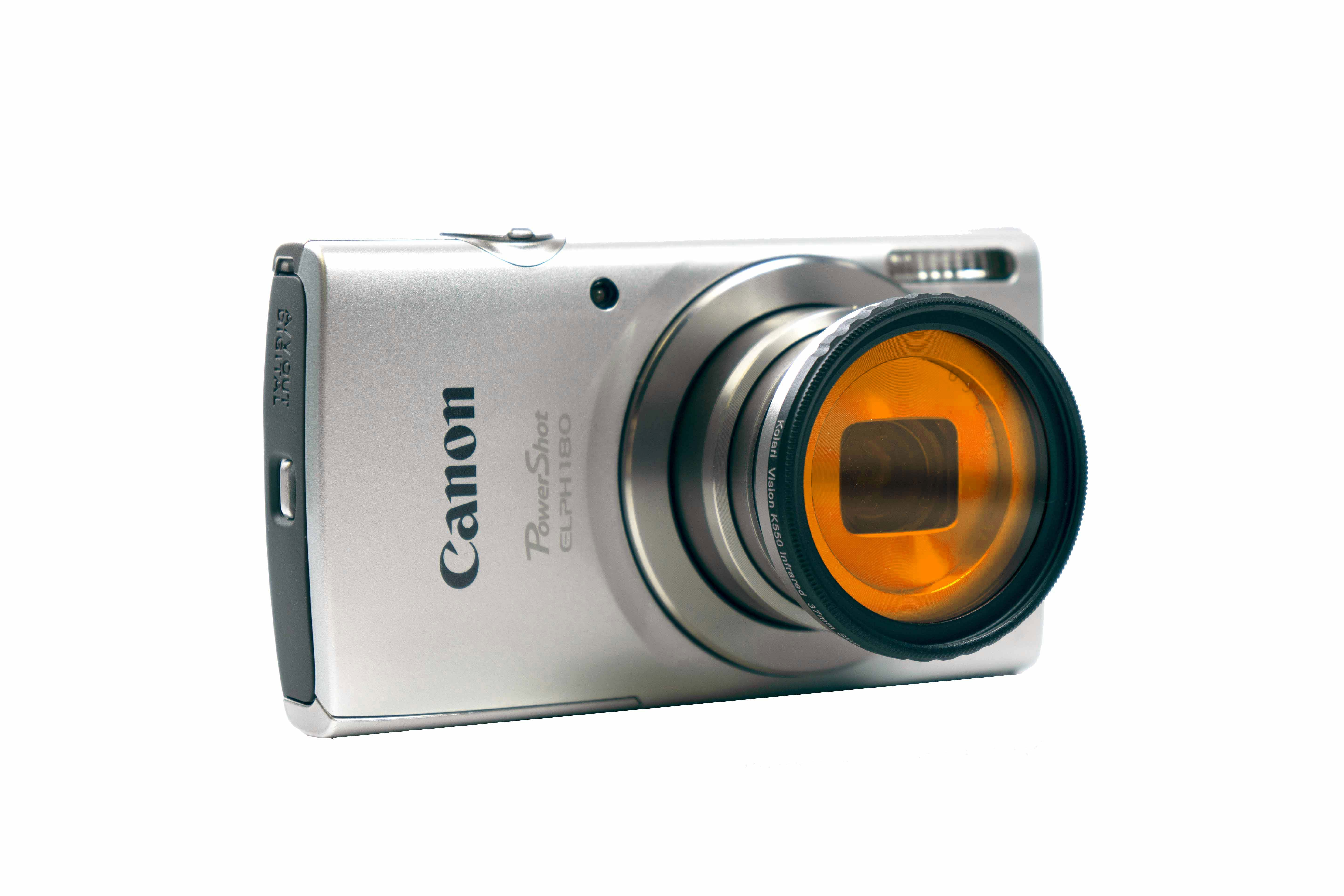 Canon PowerShot ELPH 180 Full-Spectrum Converted Point and Shoot Camera  with Infrared 3-Filter Starter Kit (550nm + 720nm + IR/UV Cut)