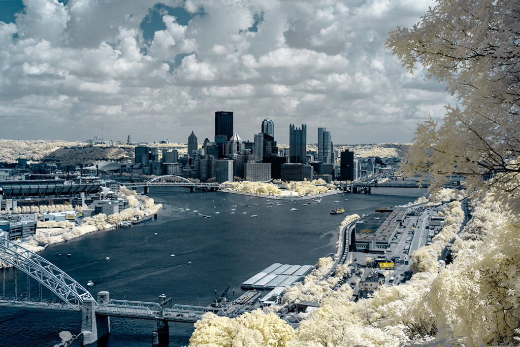 infrared conversion photo by Pittsburgh