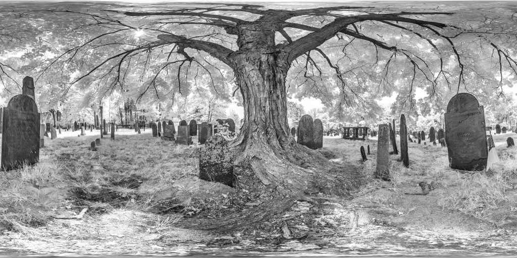 infrared conversion photo by The Old Burying Ground Panorama