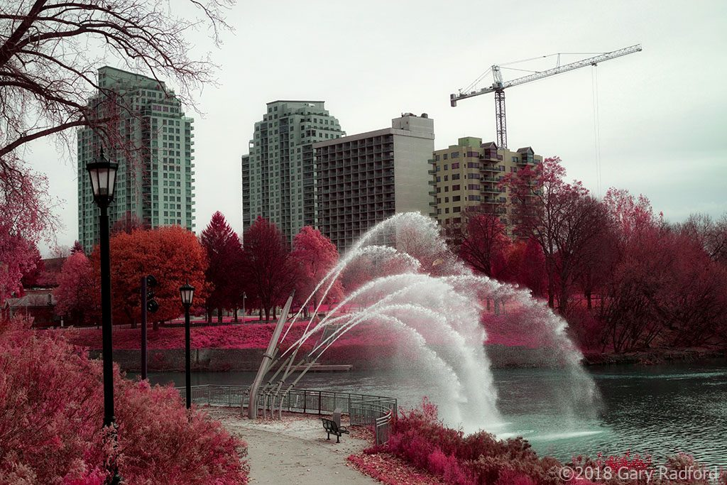 infrared conversion photo by London Ontario by the Thames