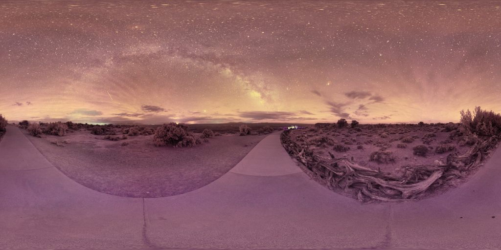 infrared conversion photo by Milky Way and Airglow Over Grand View Point Panorama