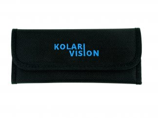 black filter pouch with blue kolari vision logo